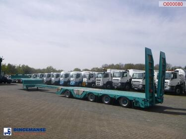 Nooteboom4-axle semi-lowbed trailer extendable 15.6 m + ramps