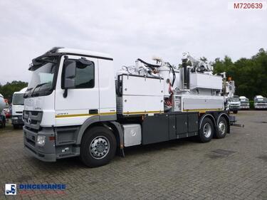 Mercedes BenzActros 2541 6x2 RHD E5 Huwer vacuum tank / hydrocureur 12 m3