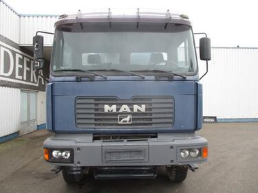 MAN32.414 , mixer , 8x4 , spring suspension