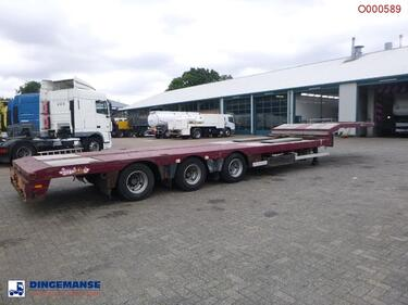 Nooteboom 3-axle semi-lowbed trailer extendable 14.5 m + ramps