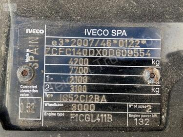 Iveco40C18 + Bunk met Hiab | 37 254km